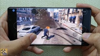 Test play GTA 5 on samsung galaxy note 9