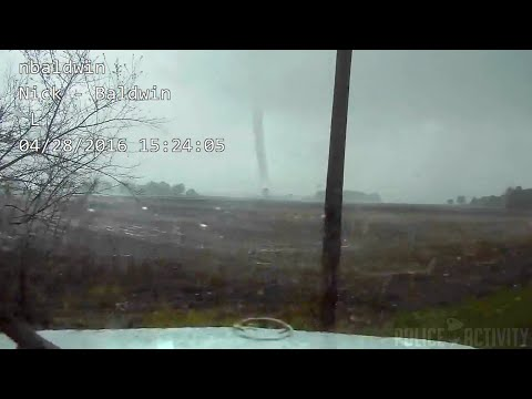 Indiana Tornado Caught On Police Dashcam