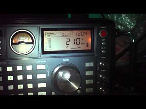 210 khz Radio farol FRM NDB Aereoporto de Formosa , Goias , Brazil
