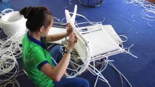 Bàn ghế quầy bar ngoài trời nhựa giả mây MT809 khung inox đan sợi mây nhựa (dây dẹp )kháng UV