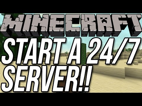 How To Start A 24/7 Server In Minecraft 1.8!!