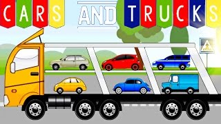 Kids Puzzles Cars and Trucks - Excavators, Cranes, Transporter and others Cars