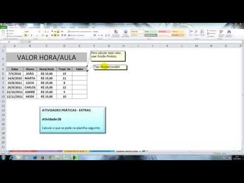 Excel - Função PRODUTO e Formatos de número (MOEDA e CONTÁBIL)
