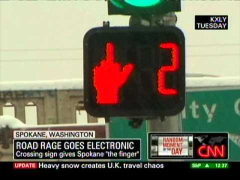 Traffic Sign Flips Motorists The Middle Finger