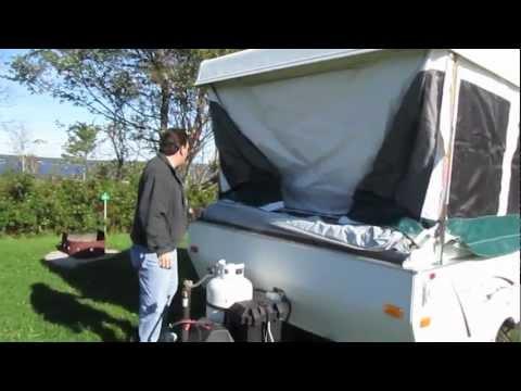 Palomino Real Lite popup trailer setup