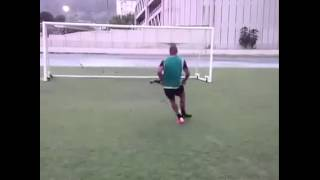 Soccer trick - double kick
