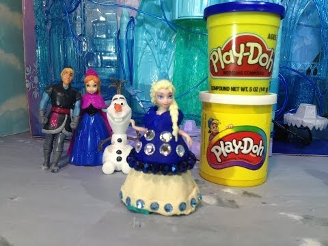 Play-Doh Disney Frozen Elsa How to Make Elsa Play Doh Dress Toy