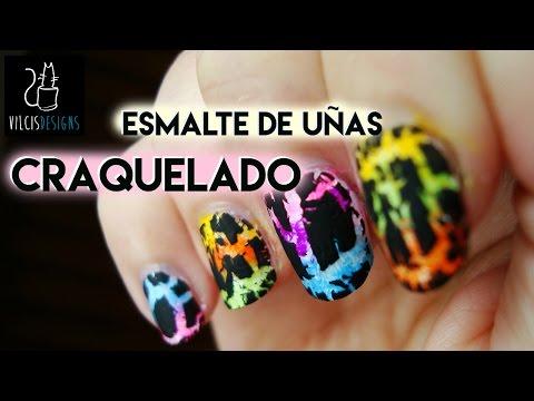 Esmalte de uñas craquelado. teñido anudado / Crackle nail polish tie dye