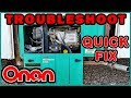Troubleshoot RV Onan Generator Will NOT Start Just Clicks No Power