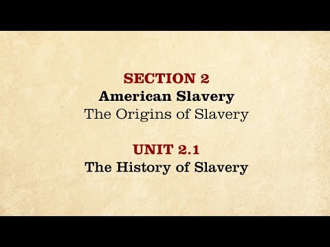 MOOC | The History of Slavery | The Civil War and Reconstruction, 1850-1861 | 1.2.1