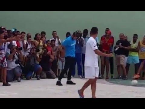 Sergio Ramos scored a goal and celebrate like Cristiano Ronaldo in Cuba 2015