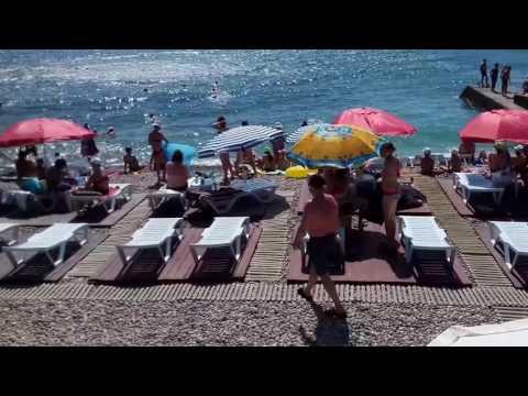 Гурзуф.КУДА ИСЧЕЗАЮТ ТУРИСТЫ С ПЛЯЖЕЙ ? Идем с трассы пешком на пляж в ГУРЗУФ.АРЕНДА ЖИЛЬЯ.Крым