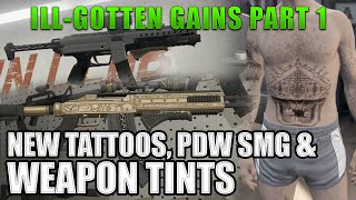 New Guns, Weapon Tints, PDW SMG and Tattoos! (GTA5 Ill-Gotten Gains Part 1 Update)