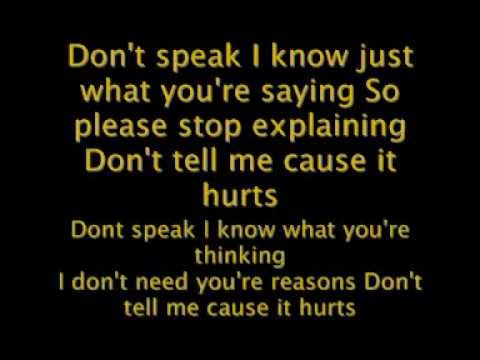 No Doubt - Dont Speak - Reggae Version Lyrics video