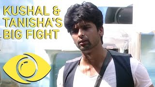 Kushal And Tanisha Big Fight - Bigg Boss India - Big Brother Universe