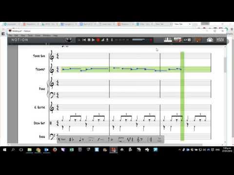 Notion 5: Midi Keyboard and Guitar Tab/Notation Conversion