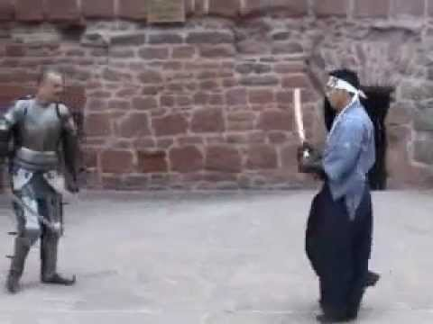 Samurai Hayashi - Real Sword Fight Versus Knight