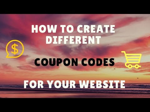 HOW TO MAKE COUPON CODES FOR YOUR ECOMMERCE WORDPRESS WEBSITE