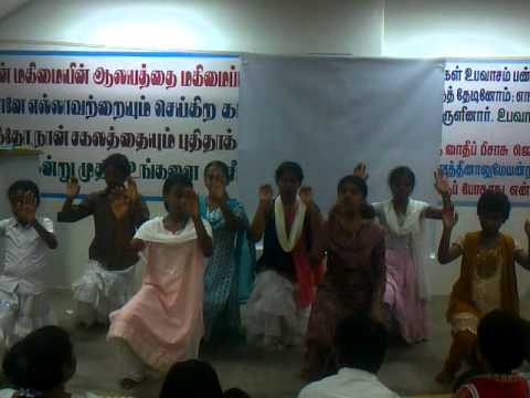 GLORIOUS CHRIST WORLD MISSION (GCWM), TRICHY, TAMILNADU, INDIA,  YOUTH GIRLS CHRISTIAN CHOREOGRAPHY.