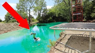 TRAMPOLINE DIVING FAIL!!