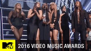 Fifth Harmony Wins Best Collaboration Video | 2016 Video Music Awards | MTV