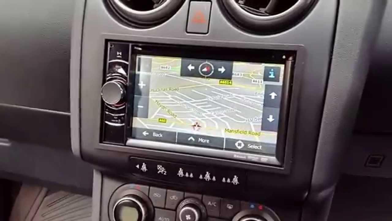 Nissan Qashqai Double Din Navigation Clarion Nx501e