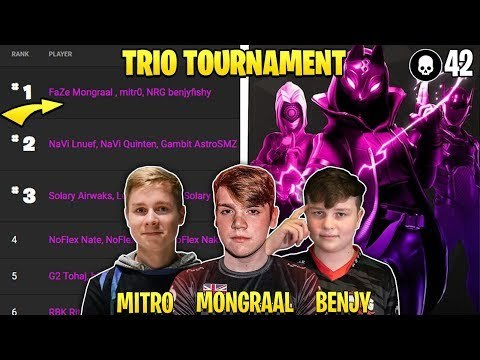 ROAD TO 1ST EU TRIOS $10,000,000 FORTNITE CHAMPION SERIES TOURNAMENT! (Mongraal, BenjyFishy, Mitr0)
