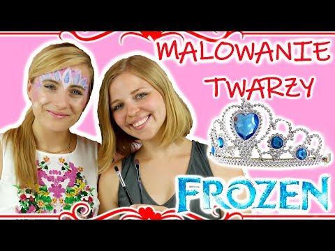 Malowanie Twarzy • Makijaż Elsy DIY • Disney Frozen • Gość Specjalny Amka Dla Dzieci !!!