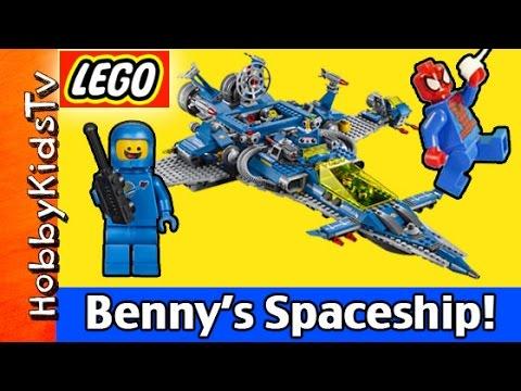 Benny's Spaceship, Spaceship, Spaceship LEGO Movie 70816 Emmet and Spider-Man HobbyKidsTV