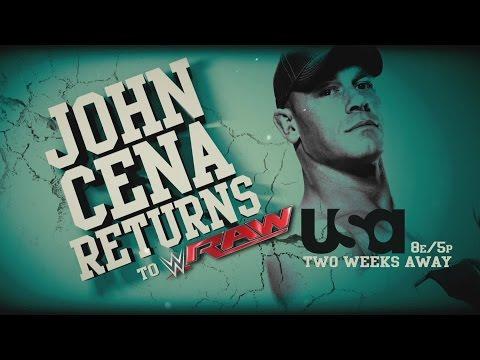 John Cena returns to Raw on Memorial Day!