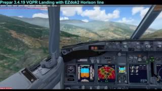 Prepar 3.4.19 VQPR Landing with EZdok2 Horison line