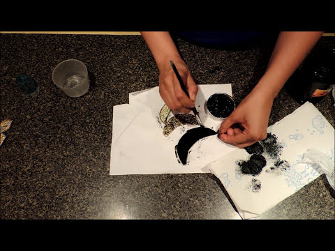 Reciclando Cds y cascaron de huevo. Recycling eggshell and cds