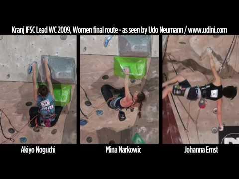 Kranj climbing WC 2009 women finals