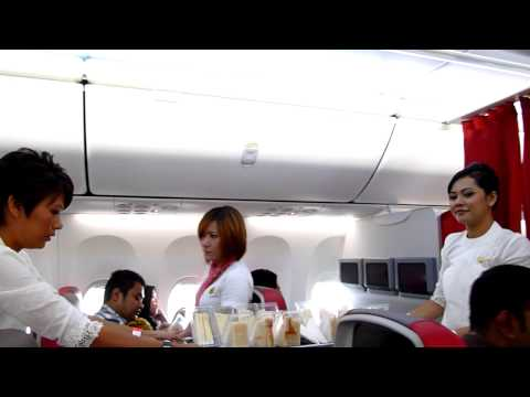 Malindo Air Cabin Crew and Light Refreshment - OD1002 KUL-BKI 22 Mar 2013 9M-LNF