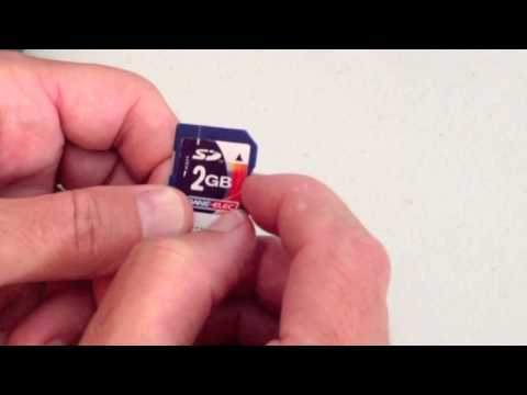 How to remove write protection from SD Card