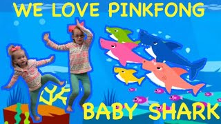 We Love Pinkfong Baby Shark - Cute twinning sisters sing and dance to Pinkfong Baby Shark song