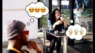 Blind Girl Eating Ice Cream Prank ( Los Angeles )