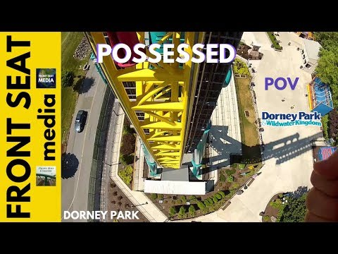 Dorney Park Possessed POV HD Roller Coaster Intamin Front Seat Ride 1080p Video Inverted GoPro