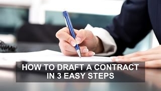 How to Draft a Contract in 3 Easy Steps