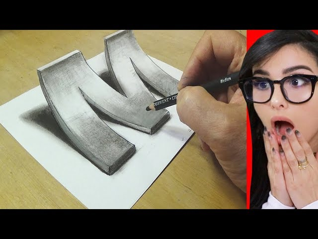 How To Draw 3D ART On Paper