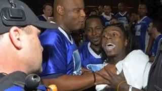 Lil Wayne and Birdman Fights with a Super Bowl camera man HD 2013