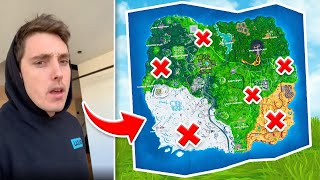LAZARBEAM Picks Where I Land in Fortnite... (BAD IDEA)