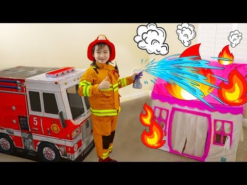 Jannie Pretend Play Rescue w/ Fire Engine Truck Ride-On Toys