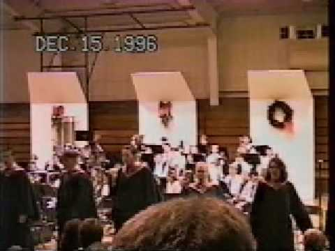 "Shelby High School Show Choir Sings ""Oh Happy Day"" at the Christmas Concert 1996."