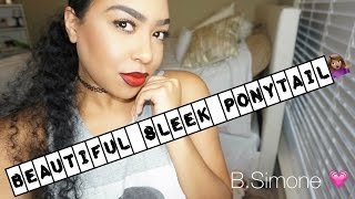 HOW TO : SLICK PONY TAIL WITH HAIR EXTENSIONS | THEBSIMONE