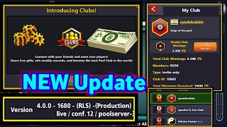 New Update In 8 Ball Pool - Introducing New Club Feature