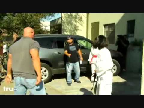 girl fights boy beats up big guy karate kicks ass Image 1
