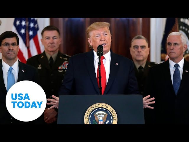 President Trump on Iran launching a missile attack  USA TODAY