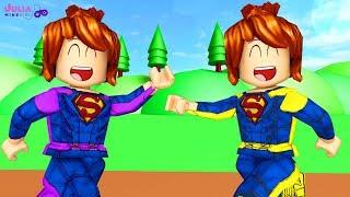 Roblox - AJUDANDO SUPER-HERÓI (Super Hero Adventure Obby)