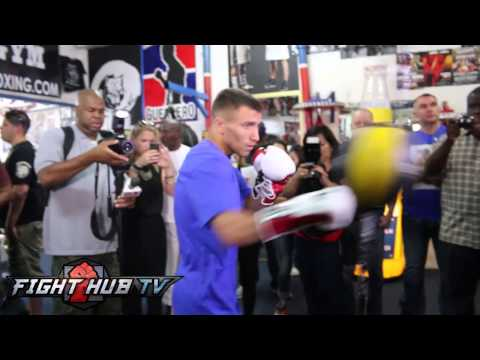 Russell vs  Lomachenko: Vasyl Lomenchenko boxing workout video
